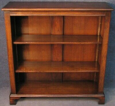 Period Style Solid Oak Bookcase Bookshelves 40 Inches Tall
