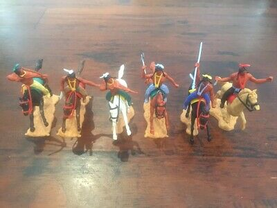 Timpo 3rd Series Mounted Indians - Complete Set - 1970's - Wild West