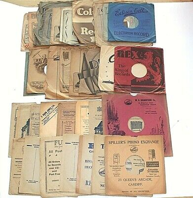 33 record sleeves covers Card & paper HMV Parlophone Spillars Decca Edison etc G