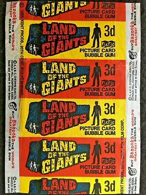 A&BC 1969 3d Land of the Giants Bubble Gum Card Wax Wrapper - Very Good