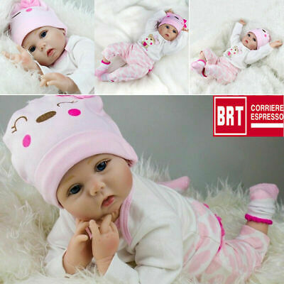 "Hot Sale 22"" Bambole Lifelike Silicone Reborn Baby Doll Playmat Regalo di Birth"