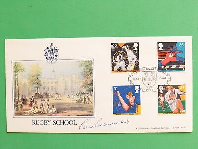 1991 Rugby School celebrates Rugby World Cup FDC Signed Bill Beaumont SNo51334
