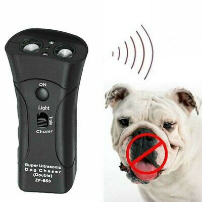 Petgentle Ultrasonic Anti Dog Barking Trainer LED Light Gentle Play Style USA