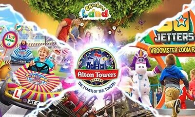 2 x ALTON TOWERS E-Tickets - SUNDAY 29th SEPTEMBER (29.09.19)