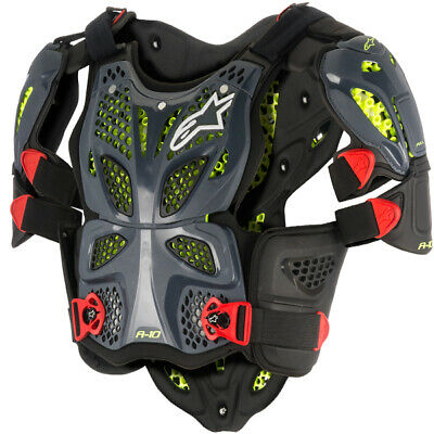 Alpinestars A10 Full Chest Protector - Anthracite Black Red