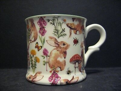 1 Rabbit Meadow Small English Fine Bone China Mug Cup By Milton China