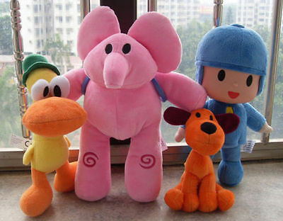 Bandai Pocoyo Elly Pato Loula Soft Plush Stuffed Animal Toy Doll Birthday Gift