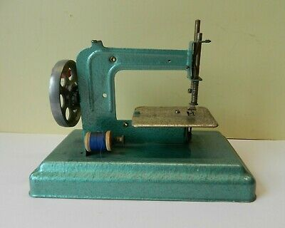 Vintage French Child's Sewing Machine Tin