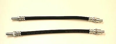 A PAIR OF FRONT BRAKE HOSES FOR THE ROVER P5B 3.5 1967-1978