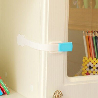 10x Child Kids Baby Safety Lock For Door Drawers Cupboard Cabinet Oven Adhesive