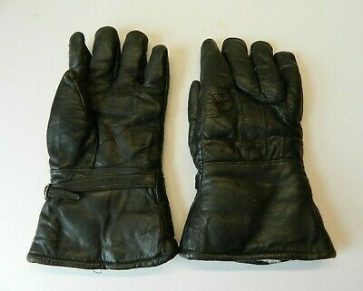 Vintage Fur Lined Leather Motorcycle Gloves Gauntlets