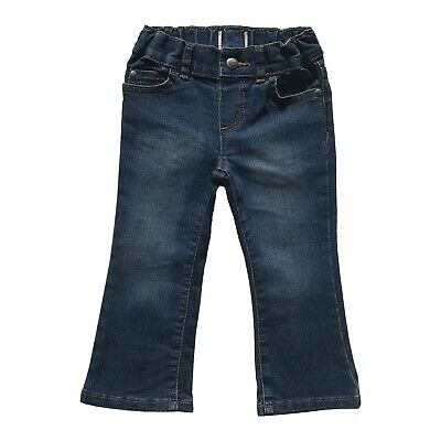 Girls Toddler Baby Bootcut Jeans Trousers Denim Pull On 6/9 Months - 4/5 Years