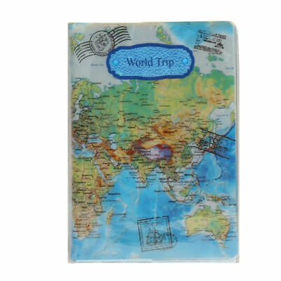 World Trip Map Geography Passport Identity Travel ID Cover Holder Holiday Gift