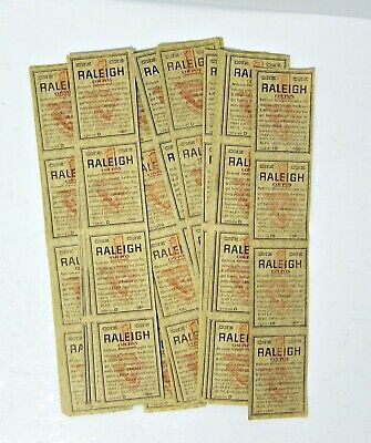 Raleigh Cigarette Coupons Strips Of 4 - Vintage Lot Of 40