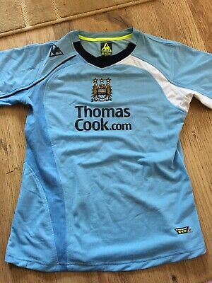 Manchester City Home Shirt 2008-2009 Le Coq Sportif Thomas Cook Small 34-36 14