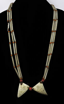 Naga Necklace Shell Pendant Gray India 29 Inch SALE WAS $38.00
