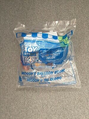 Woody Toy Story 4 McDONALDS HAPPY MEAL TOYS, ( # 5 Woody Balloon boom  )