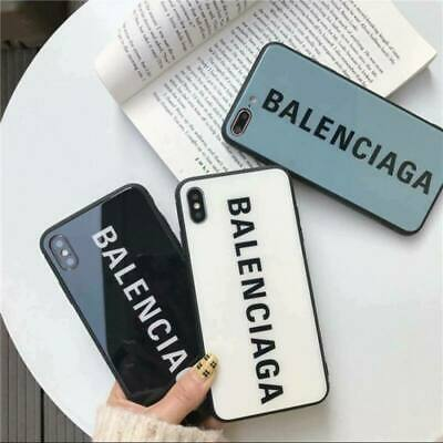 Cover Tempered Glass Balenciaga TPU Hard Case For iPhone XR XS Max 6 7 8 Plus US