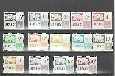 a89 - JERSEY - SGD7-D20 MNH 1971 POSTAGE DUES - ISLAND & VALUE