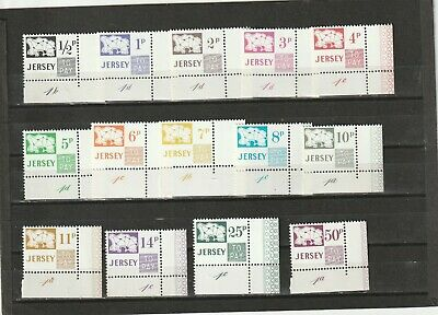 a89 - JERSEY - SGD7-D20 MNH 1971 POSTAGE DUES - ISLAND & VALUE - W/CONTROL #,s