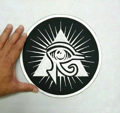 Eye of Horus Ancient Egyptian god seeing symbol Embroidered Iron-On Sew-on patch