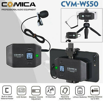 COMICA CVM-WS50C 6 Channel Mobile Professional Lavalier Wireless Microphone Kit