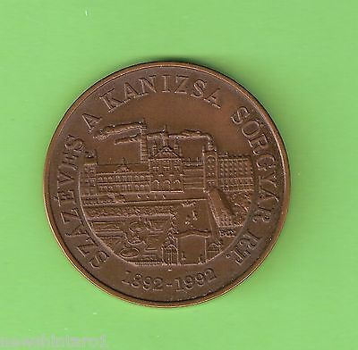 #D171. 100 Years 1892-1992 Hungarian Brewery Kanizsa Sorgyar Rt Cased Medal