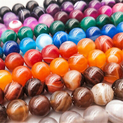 4-8mm Natural Color Veins Agate Loose Beads Diy Accessories Jewelry Making