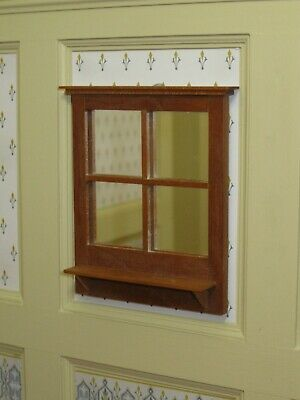 Bruce Dawson Mirrored Cherry Wood Wall Shelf Artisan Dollhouse Miniature