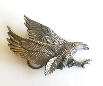 Eagle The Great American Buckle Chicago #506 Belt Buckle Silver tone