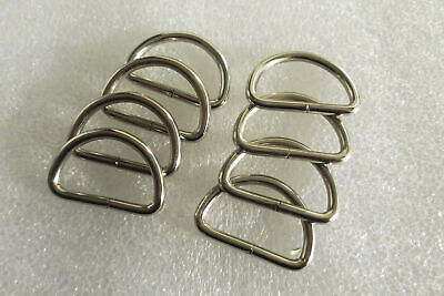Metal Dee Rings unwelded silver 38x25mm for straps, and buckles
