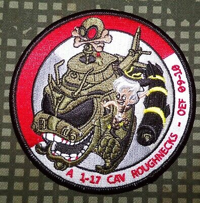 US Army A Troop, 1st Squadron, 17th Cavalry Roughnecks OEF 2009-10 Patch