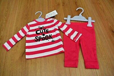 Baby Girls Bnwt Age 3-6 Months Halloween Top & Pink Leggings Outfit