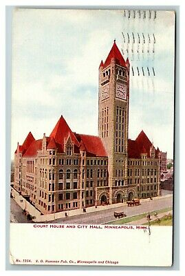 Court House and City Hall, Minneapolis MN c1910 Postcard F13