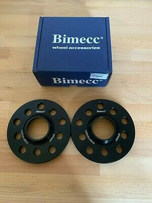 Black Bimecc Alloy Wheel Spacers 15Mm 5X100 57.1Mm Cb Pair Fits Audi A1 S1 8X