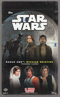 Topps Star Wars Rogue One: Mission Briefing Factory Sealed Hobby Box **2-Hits**