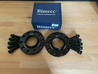 Bimecc Alloy Wheel Spacers + Tapered Bolts 12Mm 5X100 57.1Mm Pair Audi A3 S3 8L