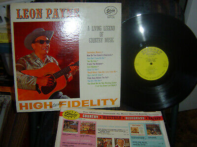 RARE-LEON PAYNE-A Living Legend of Country Music-1963 starday-SLP-231-VG++/ M-