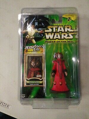 Star Wars Power of the Jedi Queen Amidala Theed Invasion Figure New in Star Case