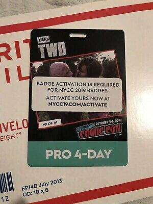 NYCC New York Comic Con 2019 4 Day Industry (Pro) Pass - 10/3/2019-10/6/2019