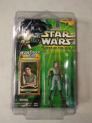 Star Wars Power of the Jedi Leia Organa General Action Figure New in Star Case