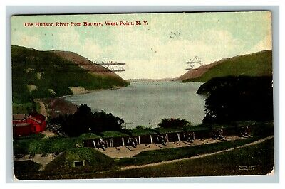 The Hudson River from Battery, West Point NY c1912 Postcard G13