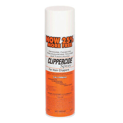 Clippercide Spray for Hair Clippers 5 in 1 Disinfects Clean Cool Lubricates 15oz