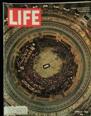 Life Magazine, 1969 APRIL 11/ EISENHOWER LIES IN STATE IN THE CAPITOL ROTUNDA