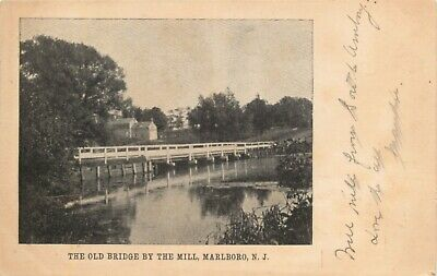 A View Of The Old Bridge By The Mill, Marlborough, New Jersey NJ