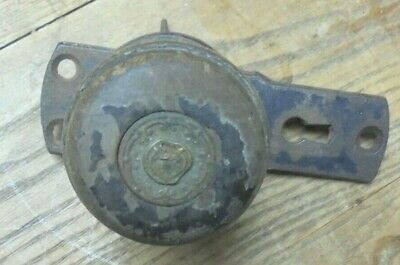 Antique 1872 Surface Mount Door Lock with Brass Knob