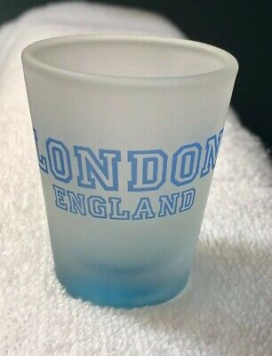NEW Collectible Travel Shot Glass from London, England - Frosted Glass