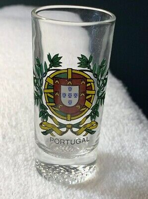 """NEW Collectible Travel Shot Glass from Portugal - 3.5"""" tall"""