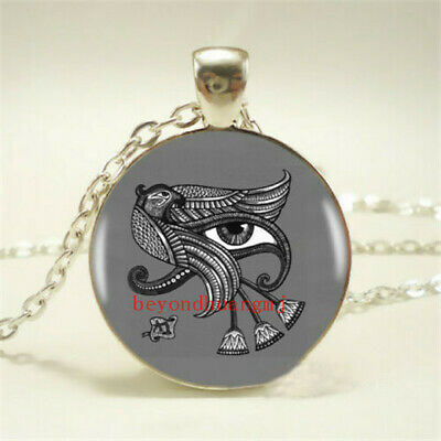 1pcs Egypt Eye of Horus Tibet silver pendant chain Necklace For Women Jewelry