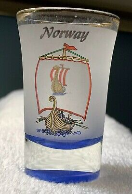 NEW Collectible Travel Shot Glass from Norway - Viking Ships - Super Cool Design